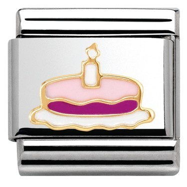 Nomination Pink Cake & Candle Charm   - Click to view larger image