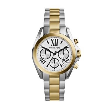 Michael Kors Silver Gold Bradshaw Watch