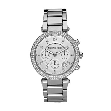 Michael Kors Silver Parker Chronograph Watch