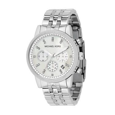 Michael Kors Silver Ritz Chronograph Watch