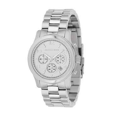 Michael Kors Silver Runway Chronograph Watch
