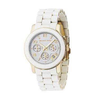 Michael Kors White Runway Chronograph Watch