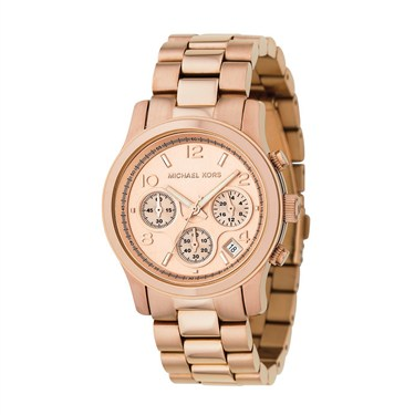 Michael Kors Rose Gold Runway Chronograph Watch
