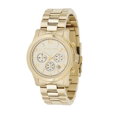 Michael Kors Gold Runway Chronograph Watch