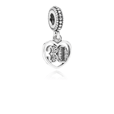 Pandora 30 Birthday Pendant Charm  - Click to view larger image