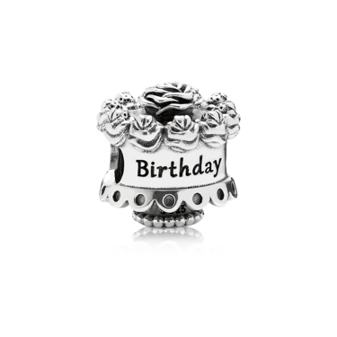 PANDORA Birthday Cake Charm  - Click to view larger image
