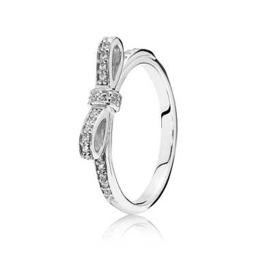 PANDORA Delicate Bow Ring  - Click to view larger image