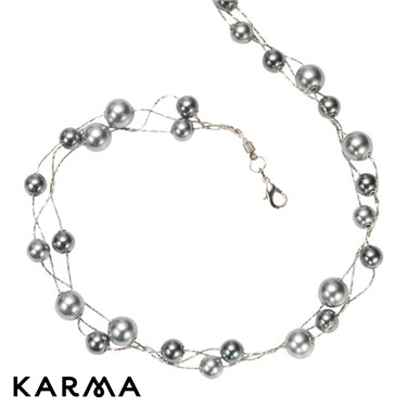 Karma Double Pearl Necklace