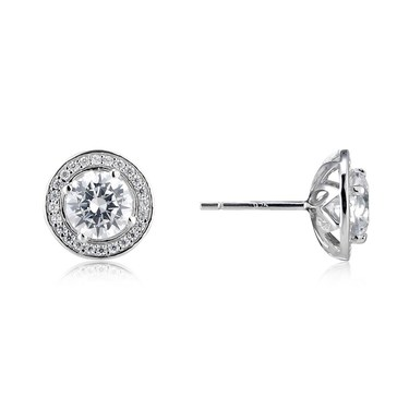 Argento Halo Stud Earrings  - Click to view larger image