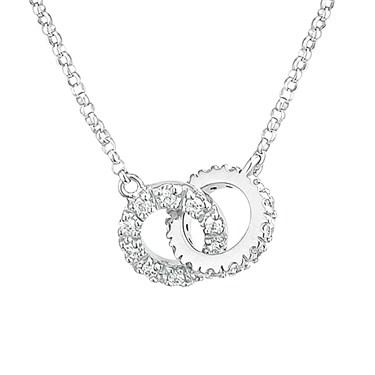 Argento CZ Linked Necklace