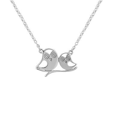 Argento Love Owls Necklace