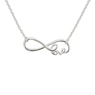 Argento Silver Infinity Love Necklace  - Click to view larger image