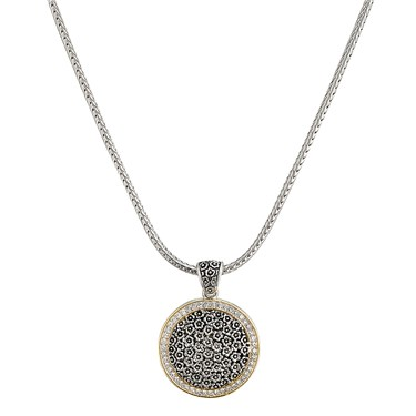 August Woods Society  Pave Border Necklace
