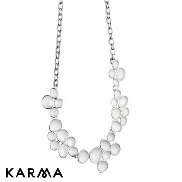 Karma Necklace With Enamel Pebbles