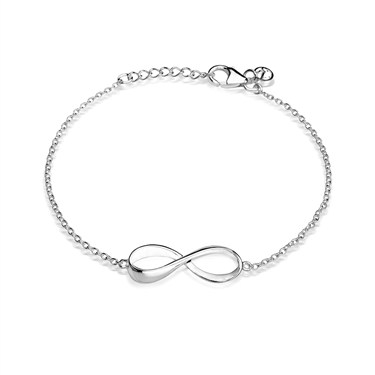 Argento Silver Infinity Bracelet  - Click to view larger image