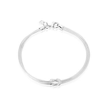 Argento Silver Mesh Knot Bracelet
