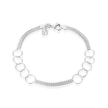 Argento Silver Tulip Chain Hoop Bracelet