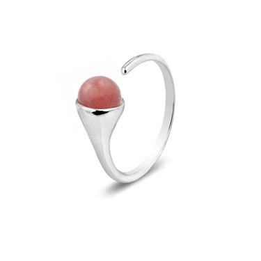 Argento July Birthstone Rhodochrosite Ring
