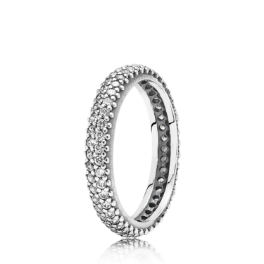 PANDORA Sparkling Curve Ring  - Click to view larger image