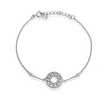 Argento Mandala Crystal Bracelet  - Click to view larger image