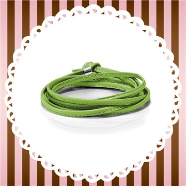 Nomination My Bon Bons Green Leather Wrap Bracelet