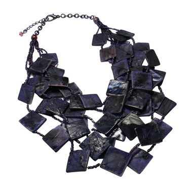 Karma Necklace With Purple Squares