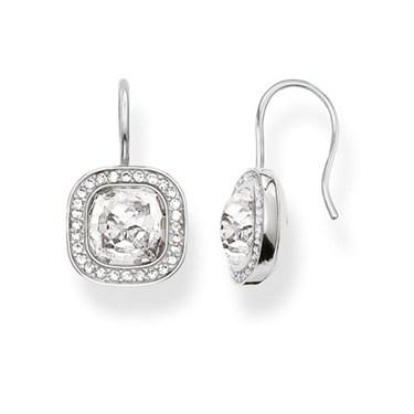 Thomas Sabo Clear Cz Drop Earrings