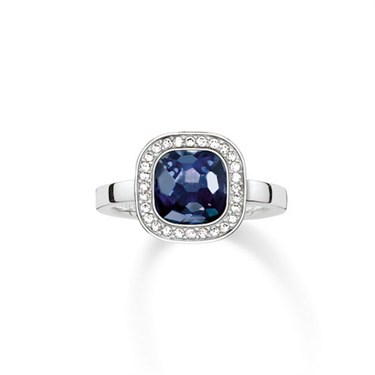 Thomas Sabo Dark Blue Square Ring  - Click to view larger image