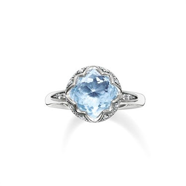 Thomas Sabo Light Blue Round Ring  - Click to view larger image