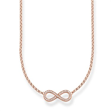Thomas Sabo Rose Gold Infinity Necklace  - Click to view larger image