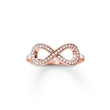 Thomas Sabo Rose Gold Infinity Ring  - Click to view larger image