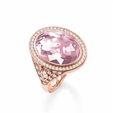 Thomas Sabo Rose Gold Oval Ring  - Click to view larger image