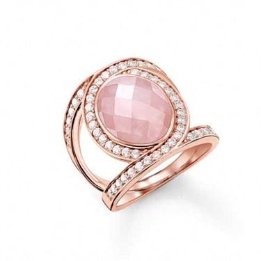 Thomas Sabo Rose Quartz Infinity Ring  - Click to view larger image