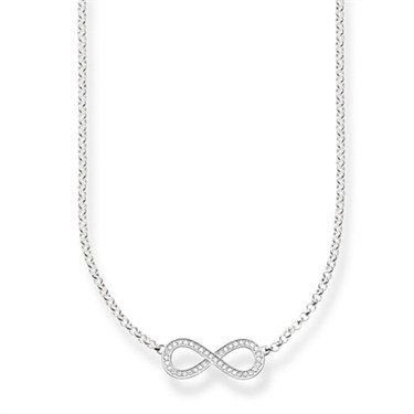 Thomas Sabo Silver Infinity Necklace  - Click to view larger image