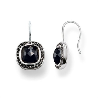 Thomas Sabo Square Onyx Drop Earrings