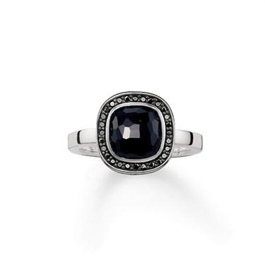 Thomas Sabo Square Onyx Ring