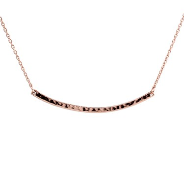 Argento Rose Gold Bar Necklace