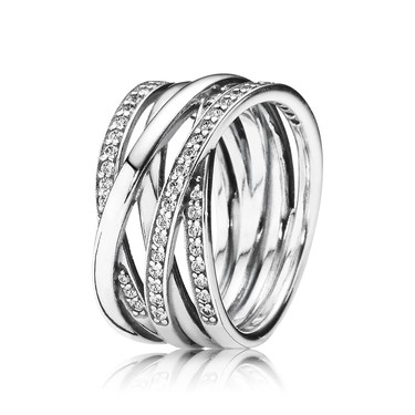 PANDORA Braided Crystal Ring   - Click to view larger image