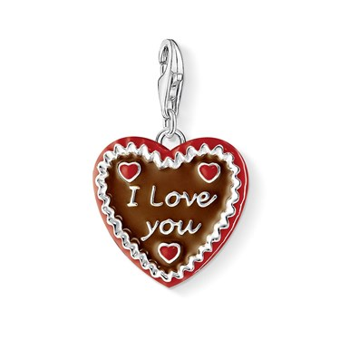 Thomas Sabo Gingerbread Heart Charm  - Click to view larger image