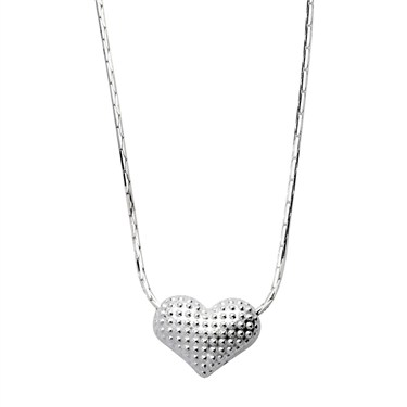Argento Dimpled Heart Necklace