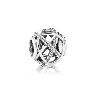 Pandora Silver Sparkling Galaxy Charm  - Click to view larger image