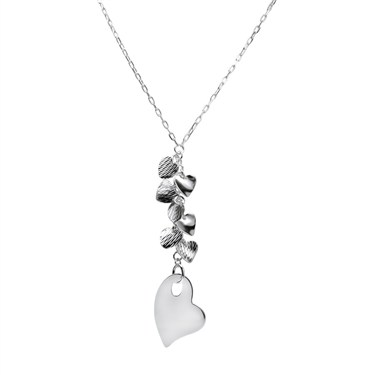 Argento Hearts Cluster Necklace