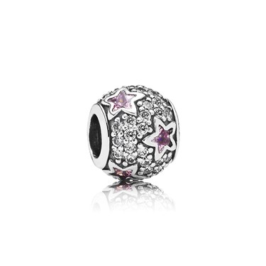 Pandora Pink Pavé Stars Charm