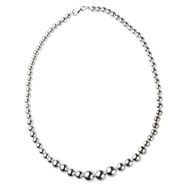 Argento Graduated Beaded Necklace