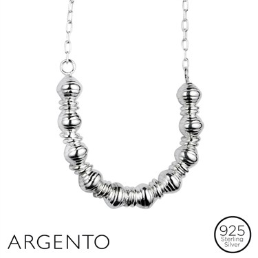 Argento Silver Beaded Necklace