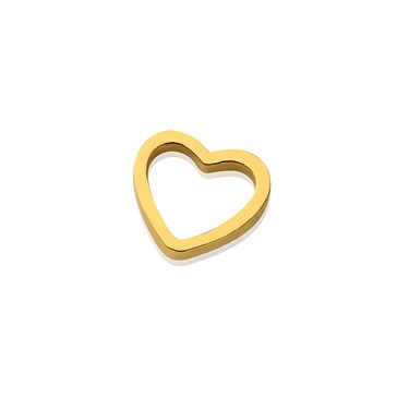 Storie Gold Heart Charm  - Click to view larger image
