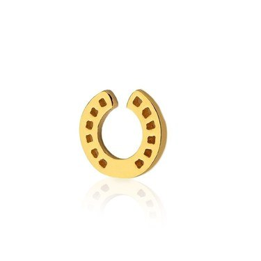 Storie Gold Horseshoe Charm  - Click to view larger image