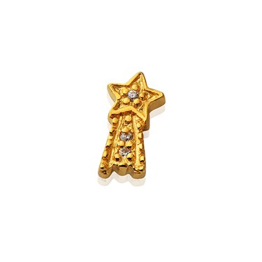 Storie Gold Shooting Star Charm  - Click to view larger image