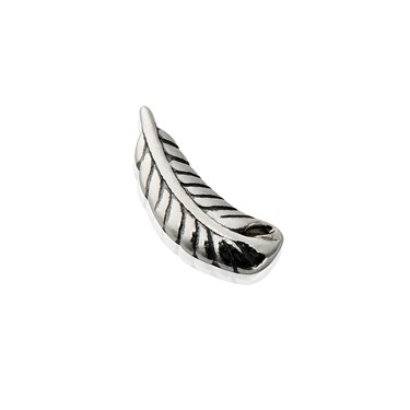 Storie Silver Feather Charm  - Click to view larger image