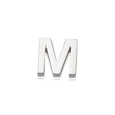 Storie Silver Letter M Charm  - Click to view larger image